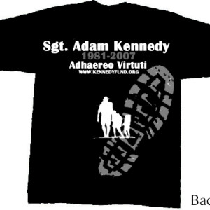 Sgt. Adam Kennedy Fund T-Shirt Back